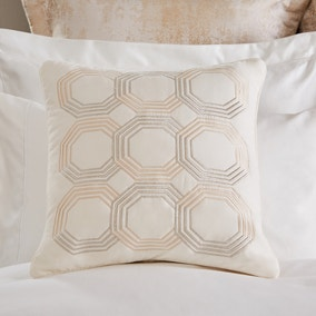 Dorma Geometric Embroidered Cushion