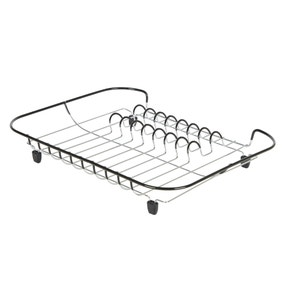 Compact Black Draining Rack