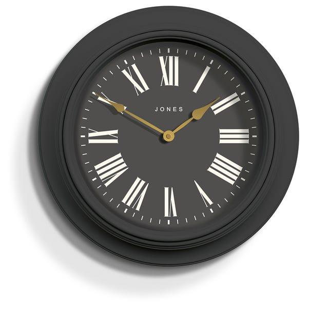 Jones Supper Club Gravity Grey Clock Grey