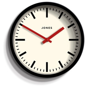 Jones Red and Black Retro Clock
