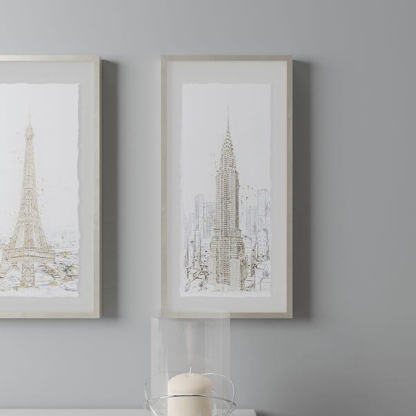 New York Glam Framed Print Gold