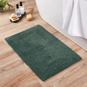 Super Soft Reversible Forest Green Bath Mat