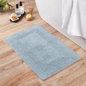 Super Soft Reversible Sky Blue Bath Mat