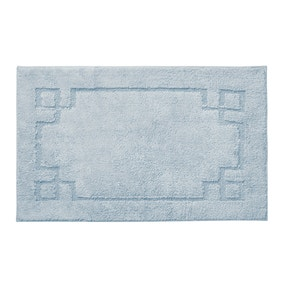 Luxury Cotton Non-Slip Sky Blue Bath Mat