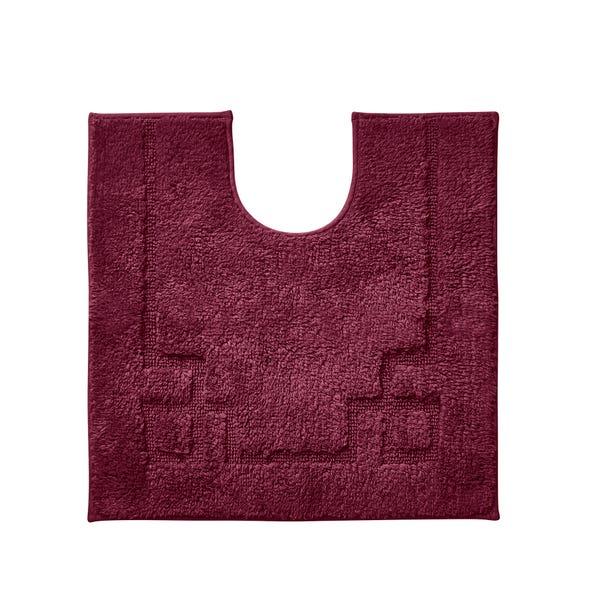 Luxury Cotton Non-Slip Merlot Pedestal Mat