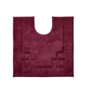 Luxury Cotton Non-Slip Merlot Pedestal Mat