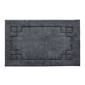 Luxury Cotton Non-Slip Charcoal Bath Mat