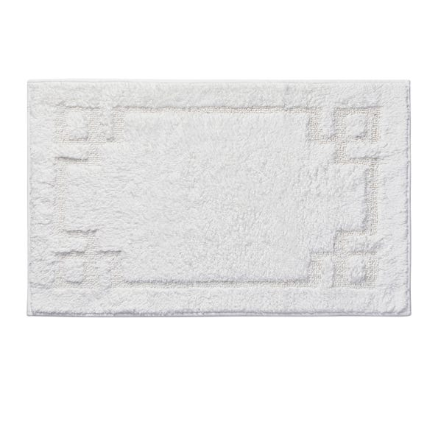Luxury Cotton Non-Slip White Bath Mat