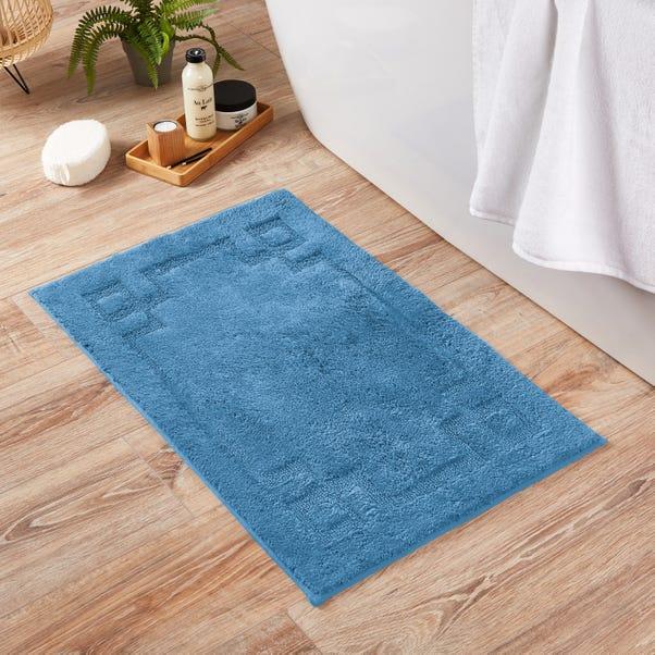 Luxury Cotton Non-Slip Cornflower Bath Mat