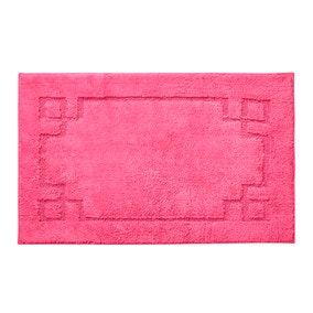 Luxury Cotton Non-Slip Fuchsia Bath Mat