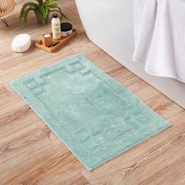 Luxury Cotton Non-Slip Duck-Egg Bath Mat