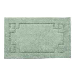 Luxury Cotton Non-Slip Seafoam Bath Mat