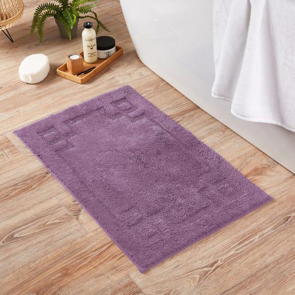 Luxury Cotton Non-Slip Lavender Bath Mat