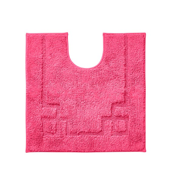 Luxury Cotton Non-Slip Fuchsia Pedestal Mat