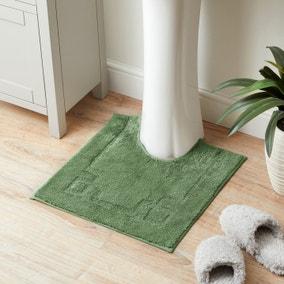 Luxury Cotton Non-Slip Woodland Fern Pedestal Mat