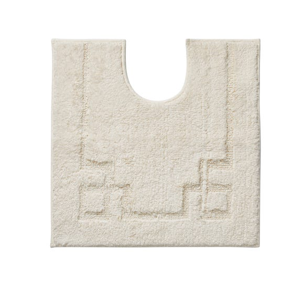 Luxury Cotton Non-Slip Cream Pedestal Mat