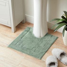 Luxury Cotton Non-Slip Seafoam Pedestal Mat