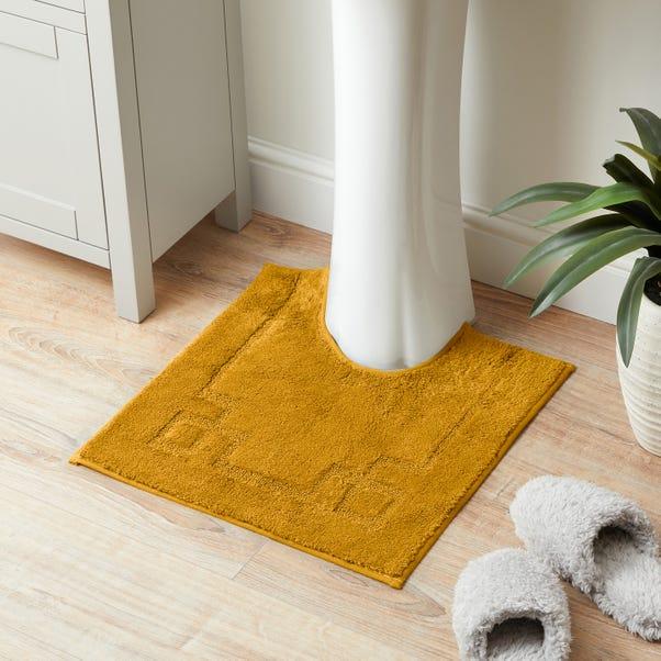 Luxury Cotton Non-Slip Mustard Pedestal Mat