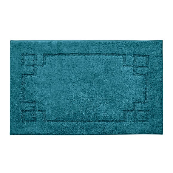 Luxury Cotton Non-Slip Peacock Bath Mat
