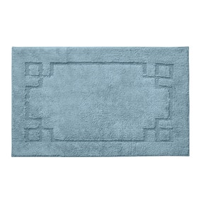 Luxury Cotton Non-Slip Denim Bath Mat