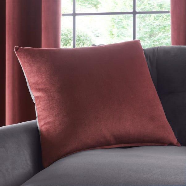 Reversible Merlot and Navy Velour Cushion MultiColoured