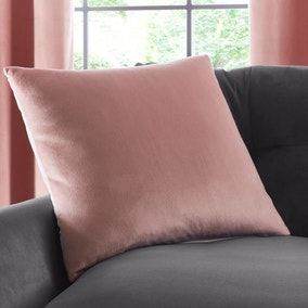 Reversible Dove Grey and Rose Velour Cushion