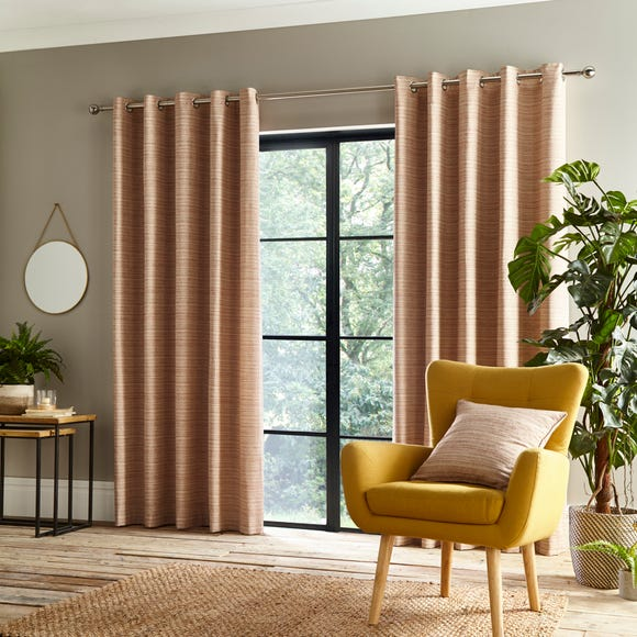Retreat Rust Eyelet Curtains  undefined