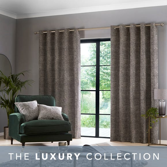 Buxton Charcoal Eyelet Curtains  undefined