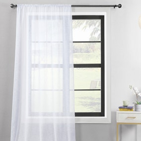 Recycled Polyester White Slot Top Voile