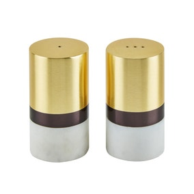 Dunelm Gold Marble Salt and Pepper Shakers