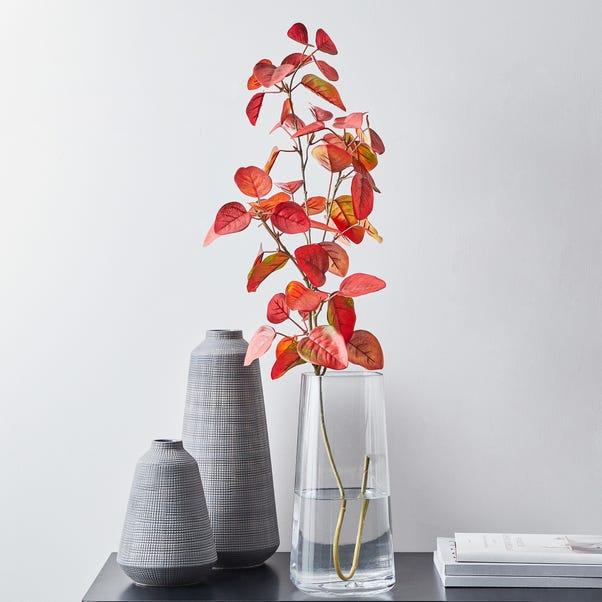 Artificial Leaf Spray Red 92cm Red