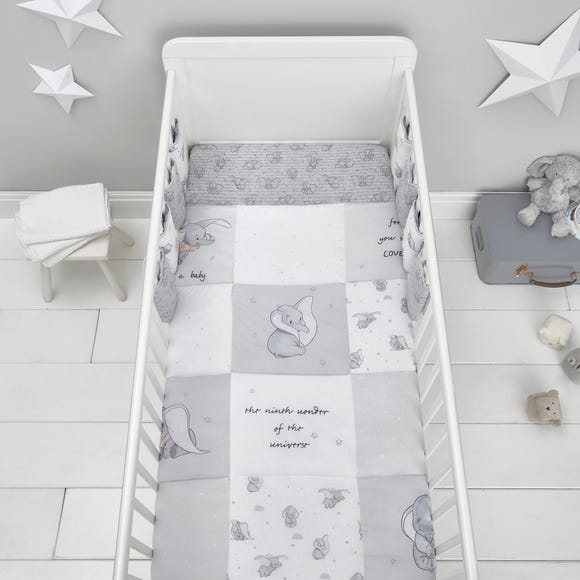 Dumbo 100% Cotton 4 Tog Cot Quilt Grey
