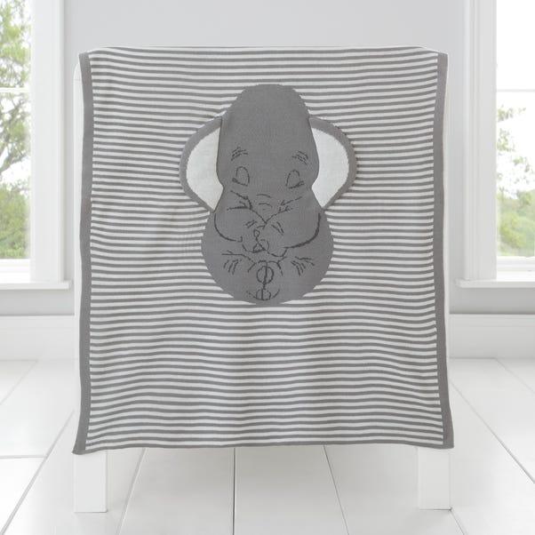 Dumbo Knitted Blanket Grey