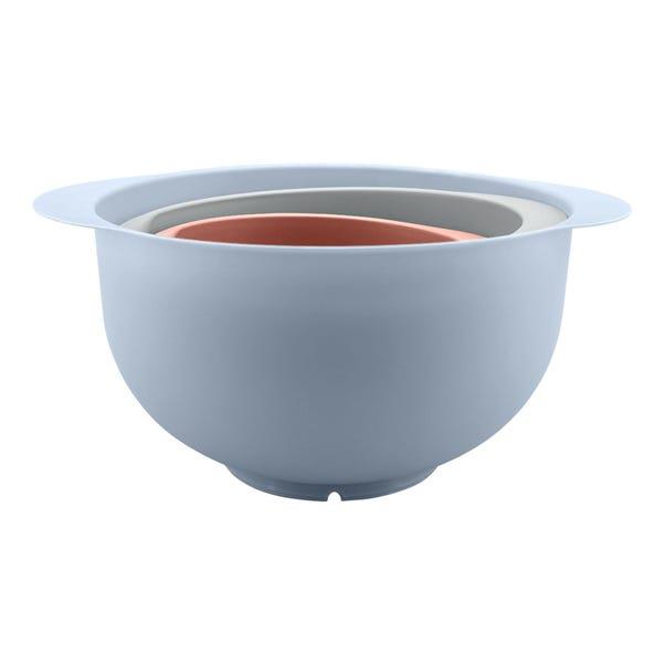 3 Piece Pastel Dunelm Mixing Bowl MultiColoured