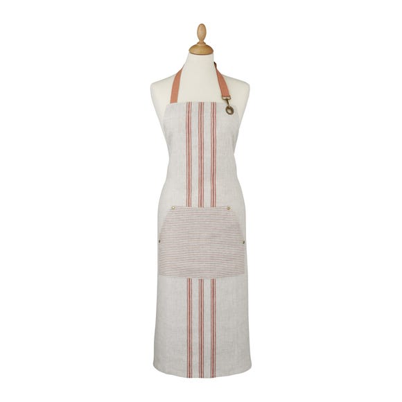 Ulster Weavers 1880 Linen Coral Apron Pink