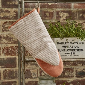 Ulster Weavers 1880 Linen Coral Single Oven Glove