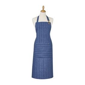Ulster Weavers 1880 Linen Indigo Blue Apron