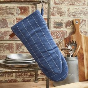 Ulster Weavers 1880 Linen Indigo Blue Single Oven Glove