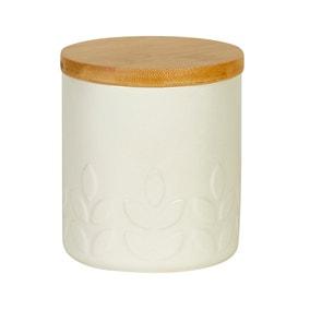Elements Vete Cream Ceramic Canister