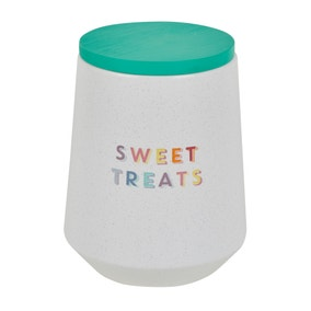 Rainbow Ceramic Biscuit Canister