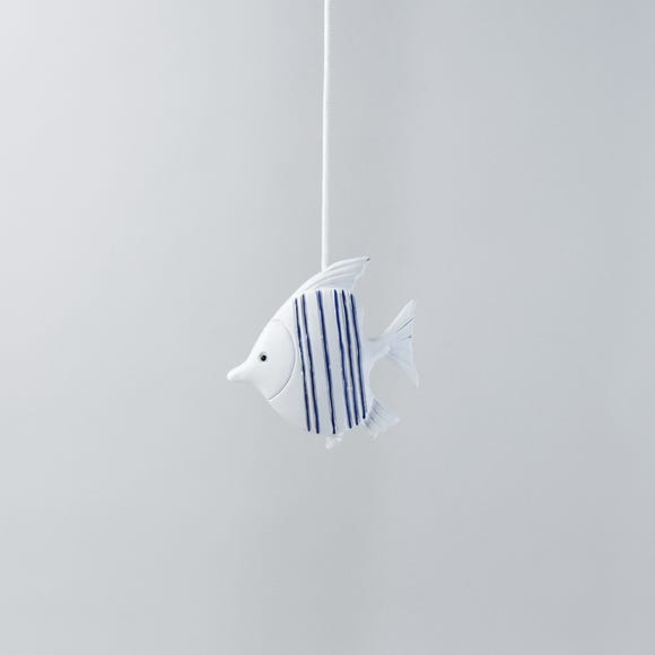 Blue Stripe Fish Light Pull Blue