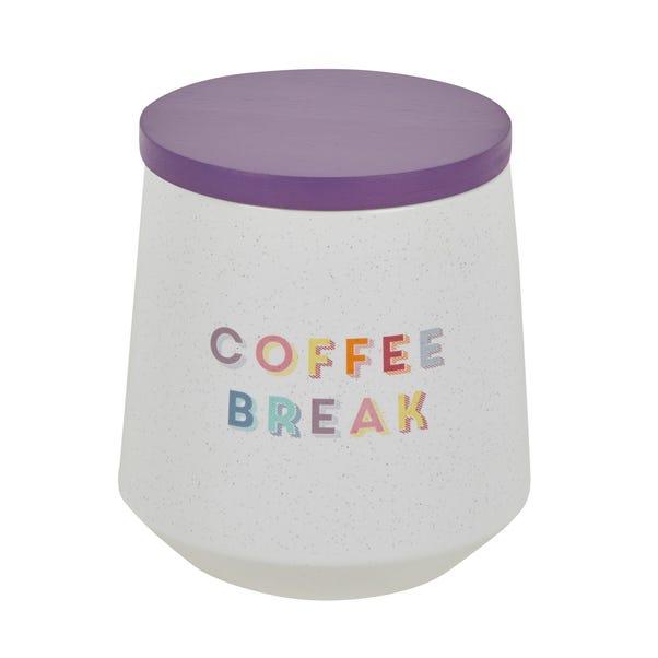 Rainbow Ceramic Coffee Canister White