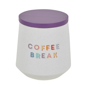 Rainbow Ceramic Coffee Canister
