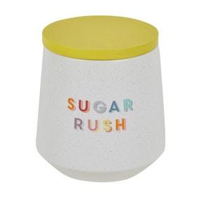 Rainbow Ceramic Sugar Canister