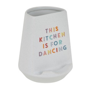Rainbow Ceramic Tablet Stand Utensil Pot