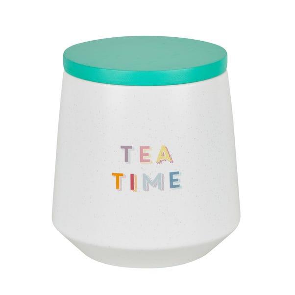Rainbow Ceramic Tea Canister White