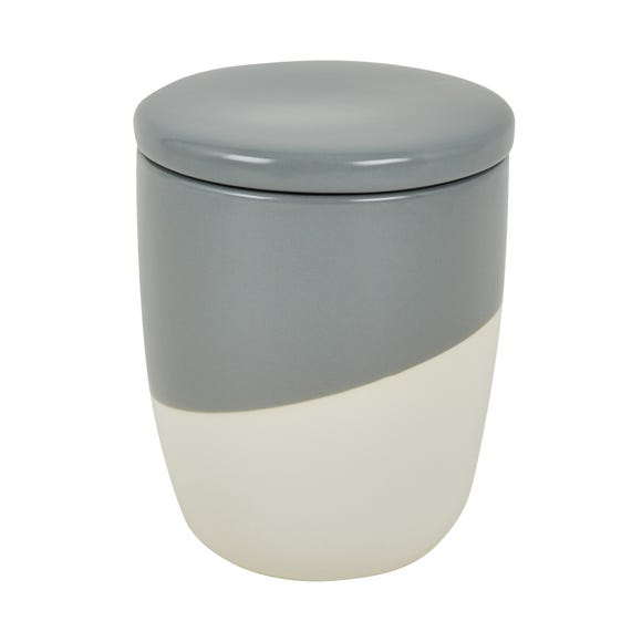Grey Pastels Dipped Canister Grey