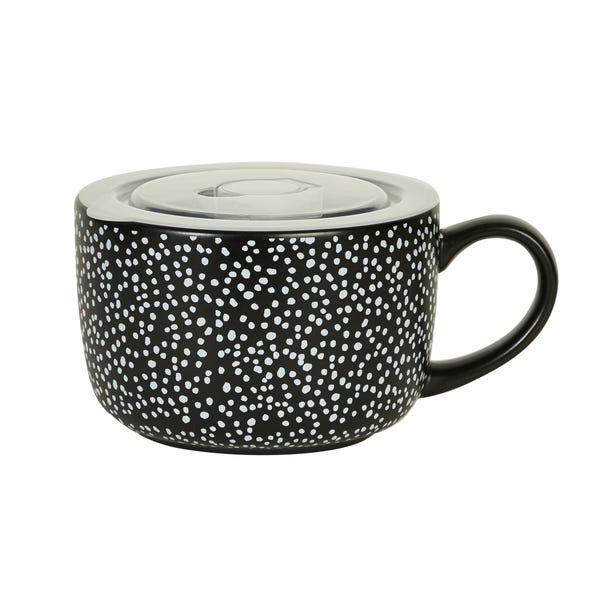 Dottie Ceramic Soup Mug Matt Black
