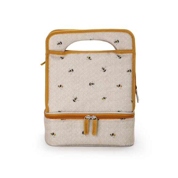 Dotty Bee Lunch Bag Natural