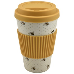Bamboo Fibre Bee Travel Mug